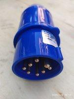 Вилка кабельная управления лебедки, 8 пин, ударопрочный пластик, синяя